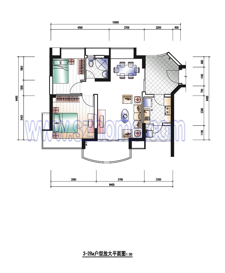 96平方房屋设计平面图_房屋设计图平面图_农村房屋设计平面图_社会