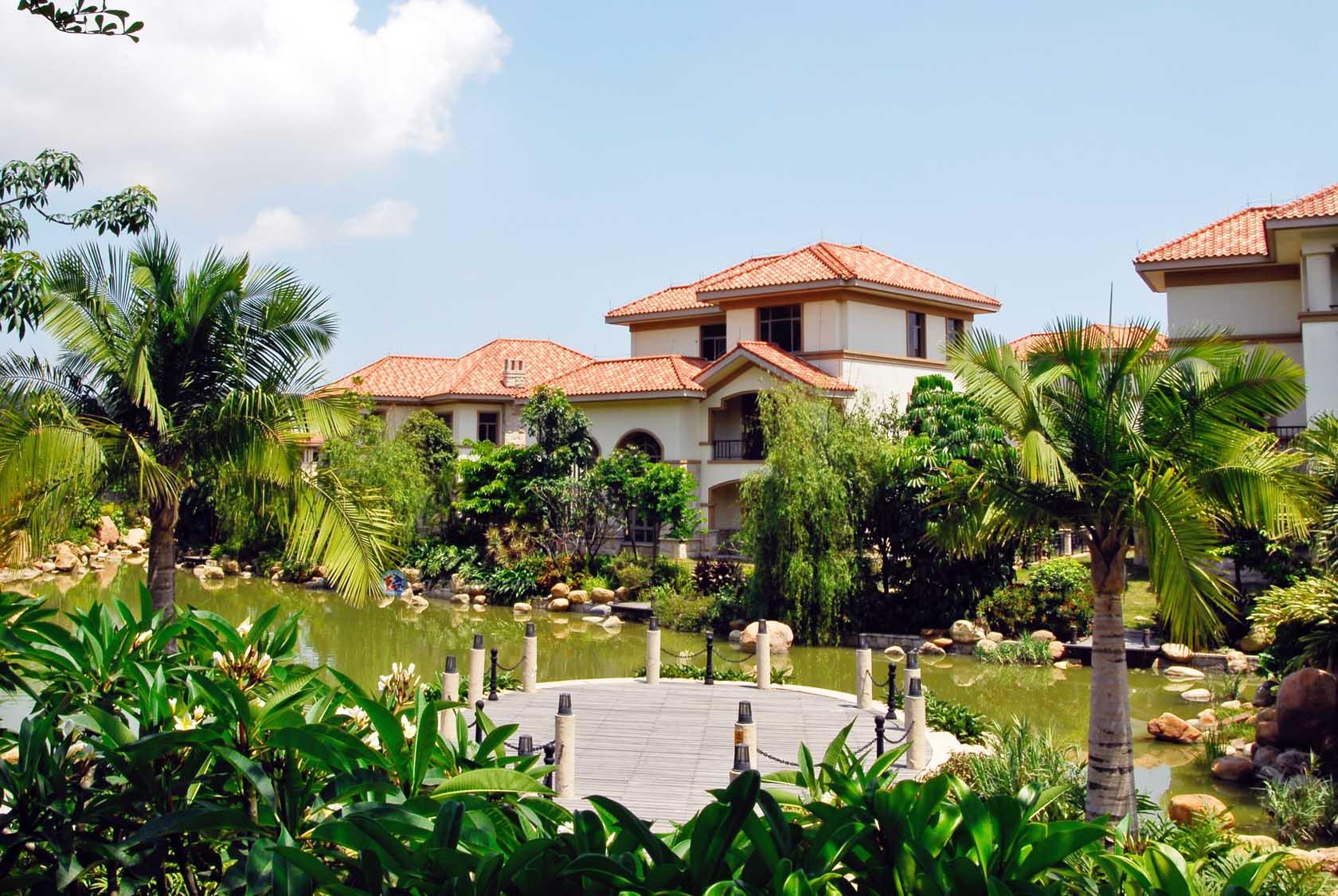 蓝山锦湾起居室的别墅图片