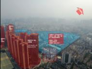 项目西面,视野宽阔,但景观一般,基本上以老旧的厂房为主,旧改众多,西向所示范围即是中洲旧改——龙华商业中心,占地面积42.3万㎡,总建面101.5万㎡,也是一个大体量项目。