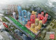 总占地约7.7万平米,总建面约51万平米,是含住宅、公寓、写字楼于一体的综合体物业。