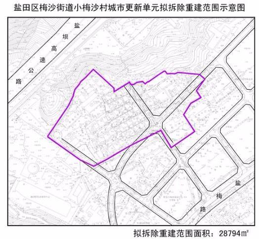 小梅沙村城市更新单元