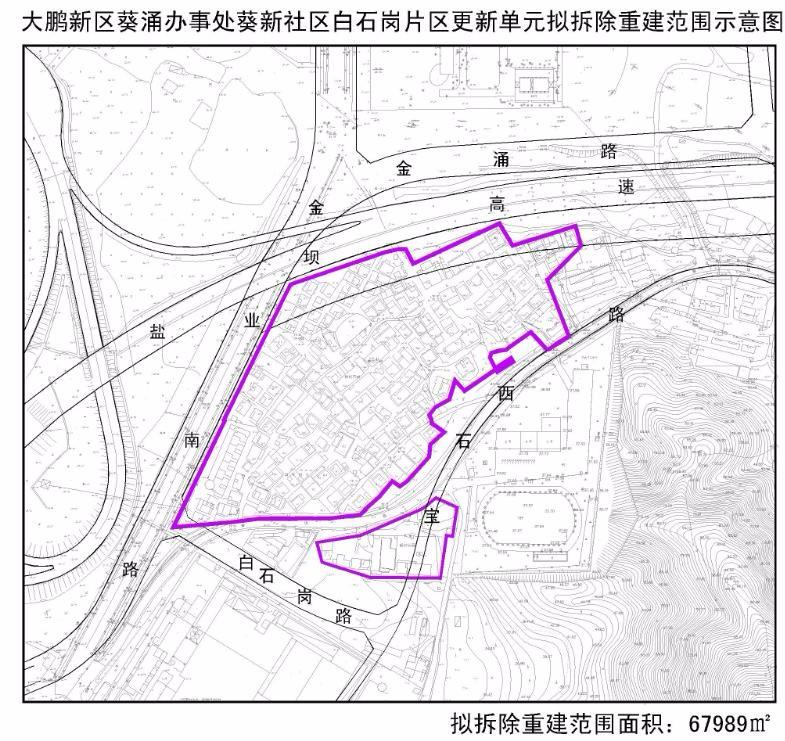 葵新社区白石岗片区更新单元