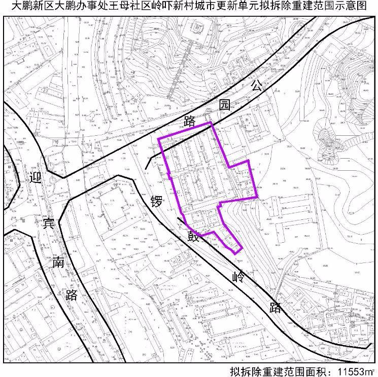 王母社区岭吓新村城市更新单元